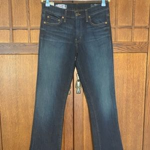 Red Engine Boot Cut flare jeans.